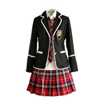 Students long-sleeved school uniforms Japan and South Korea JK uniforms junior high school boys and girls students suit