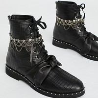 Magic Jewels Lace-Up Boot
