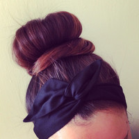 Everyday Black Dolly Bow Headband by Eindre on Etsy