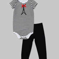 Black & White Parisian Baby Bodysuit & Leggings - Infant | something special every day