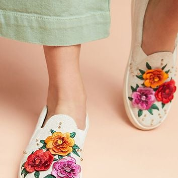 Soludos x Anthropologie Bahia Floral Sneakers