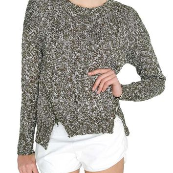 Emerald Dream Sweater Top - Olive