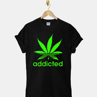 Addicted DTG ScreenPrint 100% pre-shrunk cotton for t shirt mens and t shirt woman at kahitna