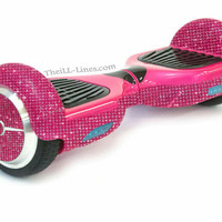 Custom Segway, Crystal Segway, Bedazzled Segway, Pink Hover Board, Custom Hover Board, Bling Hoverboard,Rhinestone Hover board,Segway