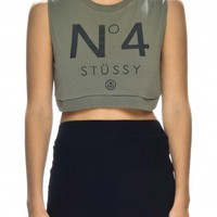 NO.4 CROP MUSCLE - Tees and Tops - Shop Womens | Stussy Australia