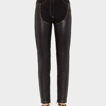 Versace Leather Insert Jeans for Women | US Online Store