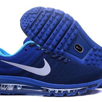 Nike Air Max 2017. Black, Blue & White. Men's Running Shoes Sneakers