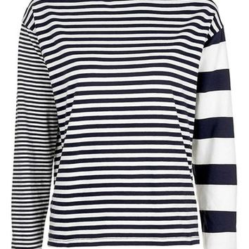 Topshop Mixed Stripe Long Sleeve Tee | Nordstrom