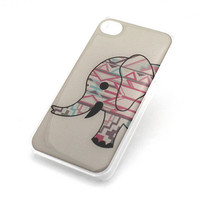 257 CLEAR Snap On Case iPhone 4 4S Plastic Cover AZTEC ELEPHANT mayan ganesh ohm