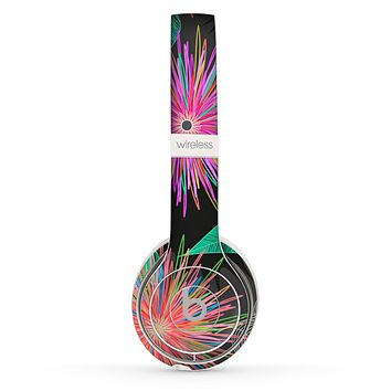 The Bright Colorful Flower Sprouts Skin Set for the Beats by Dre Solo 2 Wireless Headphones