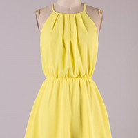 Yellow Halter Dress
