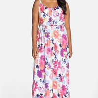 Plus Size Women's FELICITY & COCO Print Blouson Maxi Dress ,