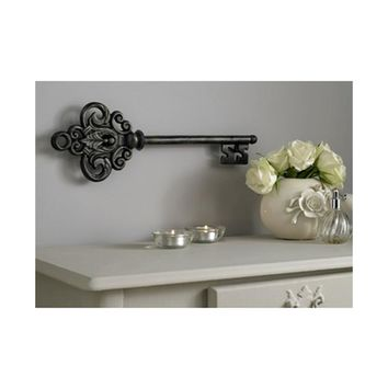 """Graham and Brown 17 in. x 6 in. """"Castle Key"""" by Graham and Brown Metal Wall Art-41-219 - The Home Depot"""