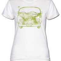 Travel Happy Bus Women's T-Shirt - Soul-Flower Online Store