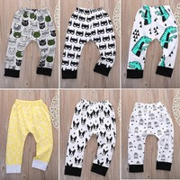 Baby Boy Girl Cartoon Style Cotton Pants  Clothing Baby Pants