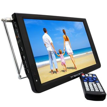 Trexonic Portable  Ultra Lightweight Rechargeable Widescreen 12 LED TV With HDMI,  SD, MMC, USB, VGA,  Headphone Jack, AV Inputs and Output And Built-in Digital Tuner and Detachable Antenna