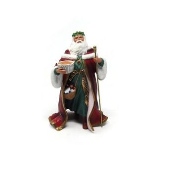 Lenox Santa Father Christmas Bisque Porcelain 24K Gold Embellishments