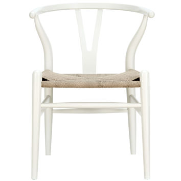 LexMod C24 Wishbone Chair in White