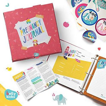 Weekly Pregnancy Journal with 40 Milestone Stickers