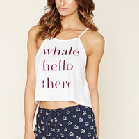 Whale Hello Graphic PJ Set
