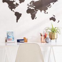 World Map Chalkboard Write-On Wall Decal Set | Urban Outfitters