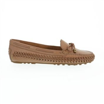 MICHAEL Michael Kors Daisy Woven Leather Moccasin at Von Maur