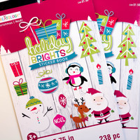 Holiday Brights Darice Sticker Book - SB41