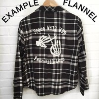 Custom Vintage Flannel - YOU Get To Choose What Design You Want On The Back!