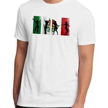 Mexican Flag - Dancing Silhouettes Men's Sublimate Tee by TooLoud