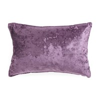 Thro by Marlo Lorenz Purple Crushed Velvet Throw Pillow