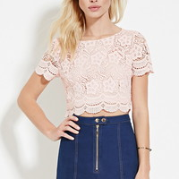 Scalloped Crochet Top | Forever 21 - 2000151787