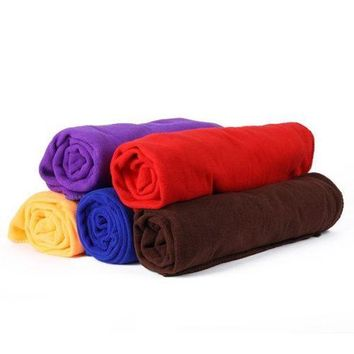 70*140CM Big Bath Towel Quick-Dry Microfiber Sports Beach Swim Travel Camping Soft Towels