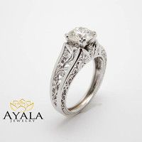 Special Reserved - Filigree Design Diamond Engagement Ring