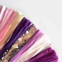 Plum and Pink Tassel Garland - Party Decoration // Wedding Decor // Nursery Decoration