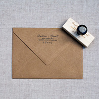 Custom Address Stamp for wedding & personal stationery
