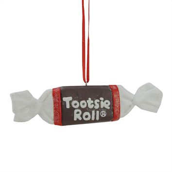 "5"" Candy Lane Tootsie Roll Orignal Chewy Chocholate Candy Christmas Ornament"