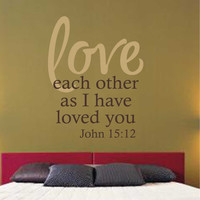Love Each Other | Religious Decal | Vinyl Wall Lettering