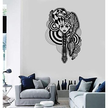Wall Stickers Vinyl Decal Sexy Gothic Girl Joker Modern Culture Decor Unique Gift (ig1762)