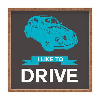 Naxart I Like To Drive Beetle 3 Square Tray