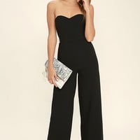 Pop Life Black Strapless Jumpsuit