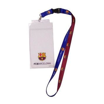 "Licensed FC Barcelona Official Soccer 20"" Lanyard Key Chain Barca by Wincraft KO_19_1"