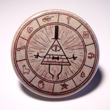 "Disney's Gravity Falls Bill Cipher Wheel Pinback Button (1-1/4"")"