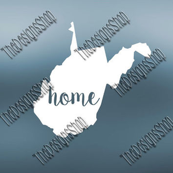 West Virginia Home State Svg Dxf Pdf Jpg Cut File | West Virginia File | Love JPG Sticker | Svg Dxf Jpg Jpeg  PDF | Digital Download | 140