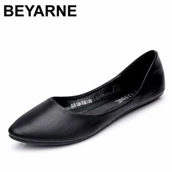 BEYARNE New Arrival 2018 Spring and Autumn Women's Loafers   Loafers Women Flat Heel Shoes Boat Shoes Casual Free Shipping