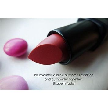 LIPSTICK Rouge INSPIRATIONAL Poster 24X36 DRAMA Liz Taylor Quote SELF HELP