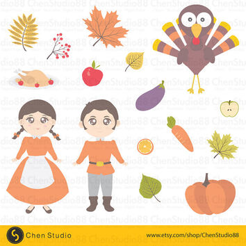 Thanksgiving vector - Digital Clipart - Instant Download - EPS, Pdf and PNG files included