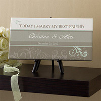 Personalized Wedding Canvas Art - Today I Marry My Best Friend