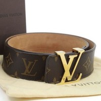 Boys & Men LV Louis Vuitton Fashion Leather Belt
