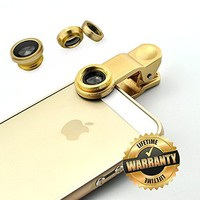 Clemagic 3 In 1 Phone Lens Clip-On 180 Degree Supreme Fisheye