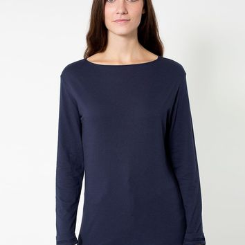 rsa0412sw - Unisex Long Sleeve Boat Neck Shirt
